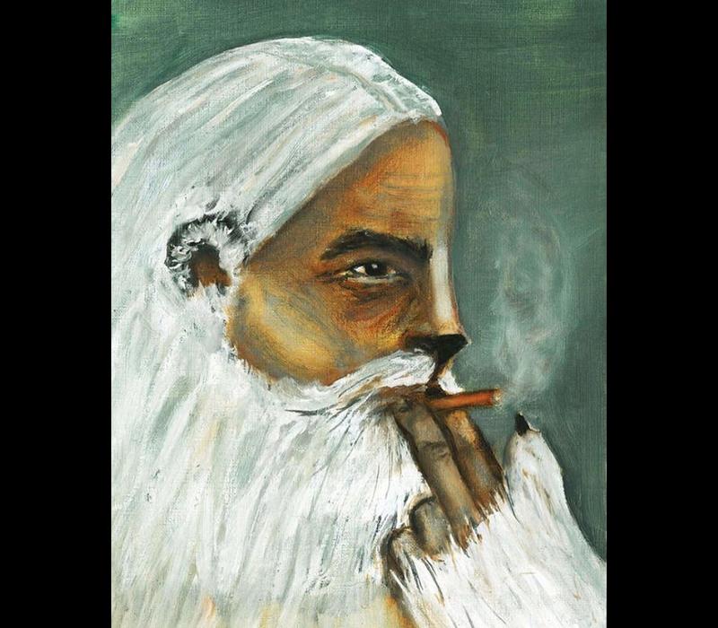 Alicia Borssen - Catman smoking  - A3 Print