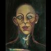 Alicia Borssen Alicia Borssen - The Man in My Dreams - No hair purple with black background - A3 Print