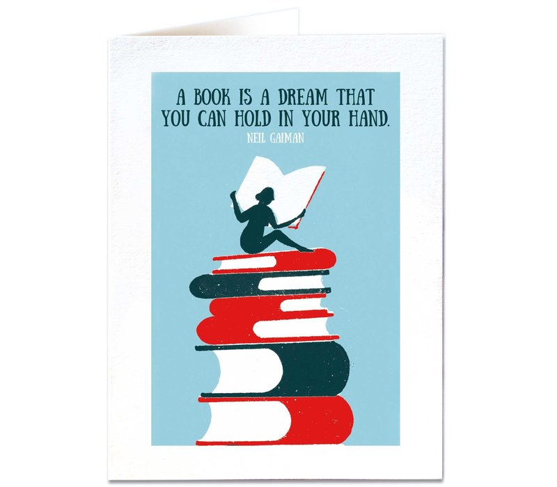 Archivist Gallery - A book is a Dream - Greeting Card