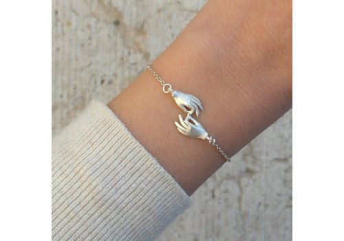 Âme Jewels Âme Jewels - Gyan Mudras Bracelet - Silver