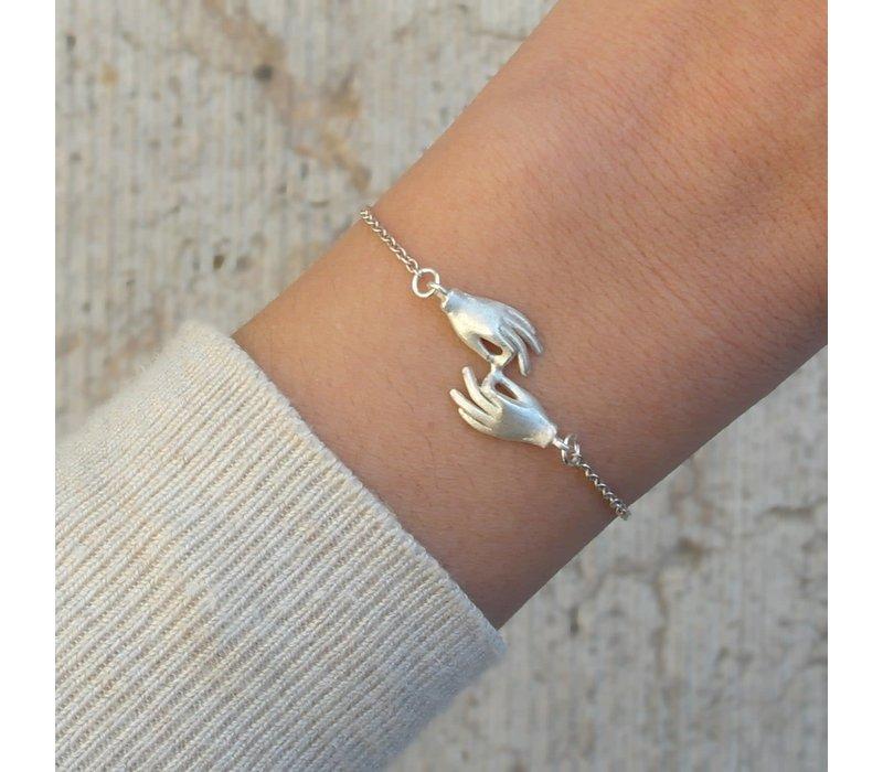 âme - Hands - Silver Bracelet