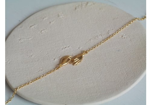Âme Jewels Âme Jewels - Gyan Mudras Bracelet  - Gold Plated Silver
