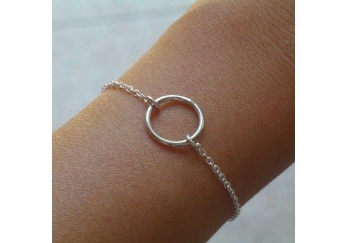 Âme âme - Empty Circle - Silver Bracelet