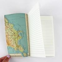 Sukie - Linen Map Travel Notes Blue Binding
