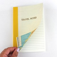 Sukie - Linen Map Travel Notes Yellow Binding