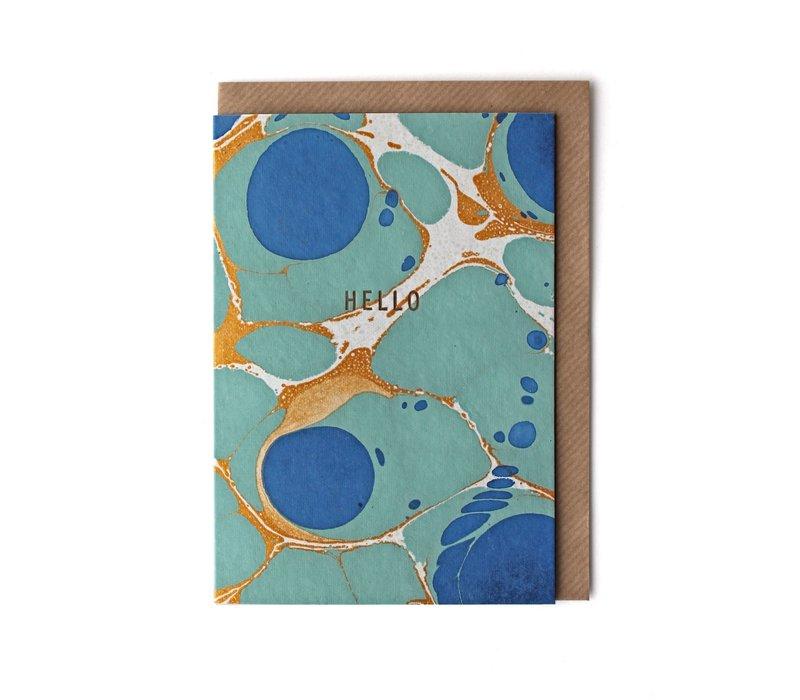 Sukie - Marble Royal Blue 'Hello' Card