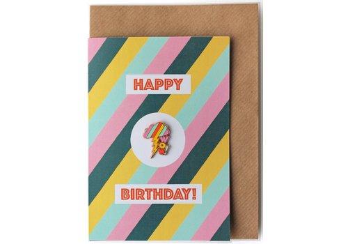 Sukie Sukie - Pin Badge Card Wow Rainbow