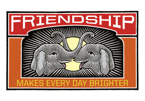 Laughing Elephant Laughing Elephant - Friends Never Forget  - Greeting Card