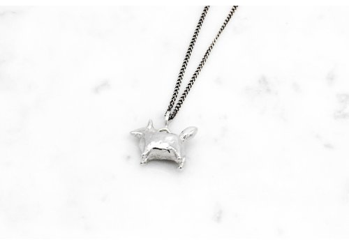 Datter Industries Datter Industries - Dog Amulet Necklace - Silver