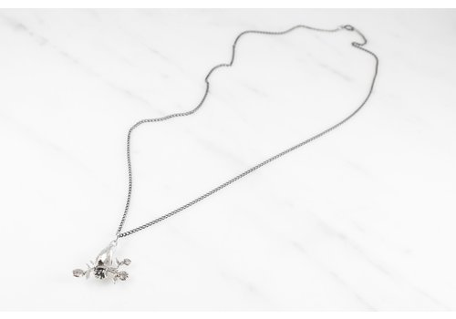 Datter Industries Datter Industries - Hand and Flower Necklace - Sterling Silver