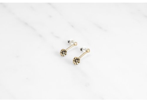 Datter Industries Datter Industries - Aster Drop Earrings - Brass