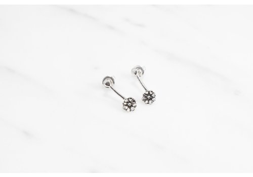 Datter Industries Datter Industries - Aster Drop Earrings - Silver