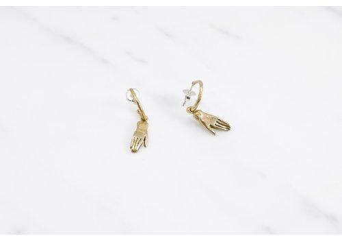 Datter Industries Datter Industries - Votive Hoop Earrings - Brass