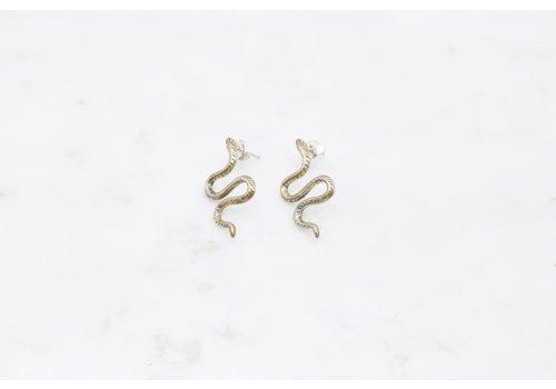 Datter Industries Datter Industries - Winding Snake Stud Earrings - Silver