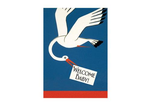 Laughing Elephant Laughing Elephant - Stork Bringing News  - Greeting Card