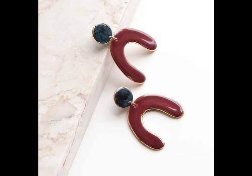 Rozenthal Rozenthál - Red Statemant - Earrings