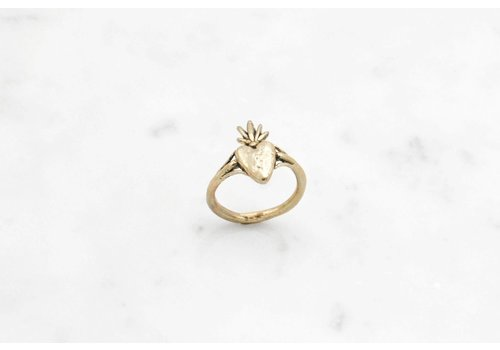 Datter Industries Datter Industries - Burning Heart Ring - Brass