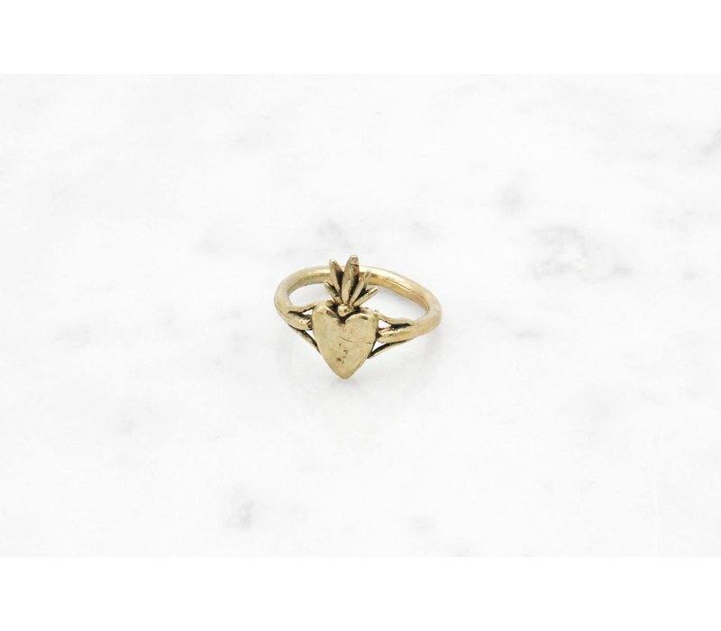Datter Industries - Burning Heart Ring - Brass