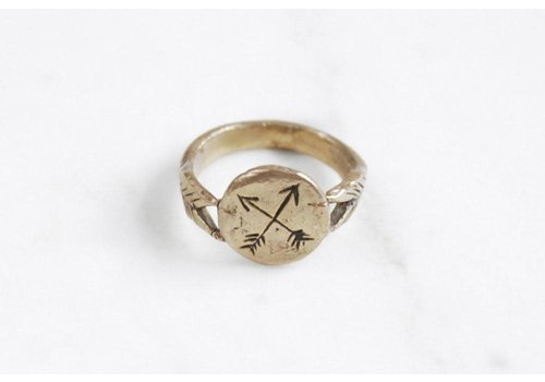 Datter Industries Datter Industries - Crossed Arrows Ring - Brass