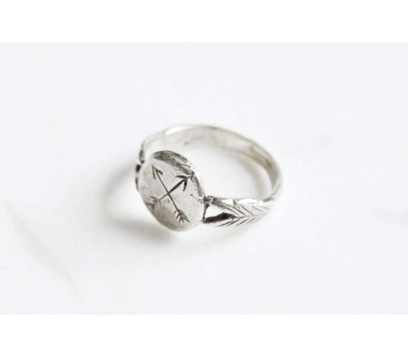 Datter Industries - Crossed Arrows Ring - Silver