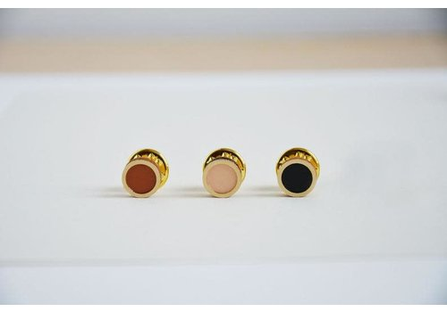 Pithy Pithy - Mini Pin Badge Set - Pink, Orange, Black