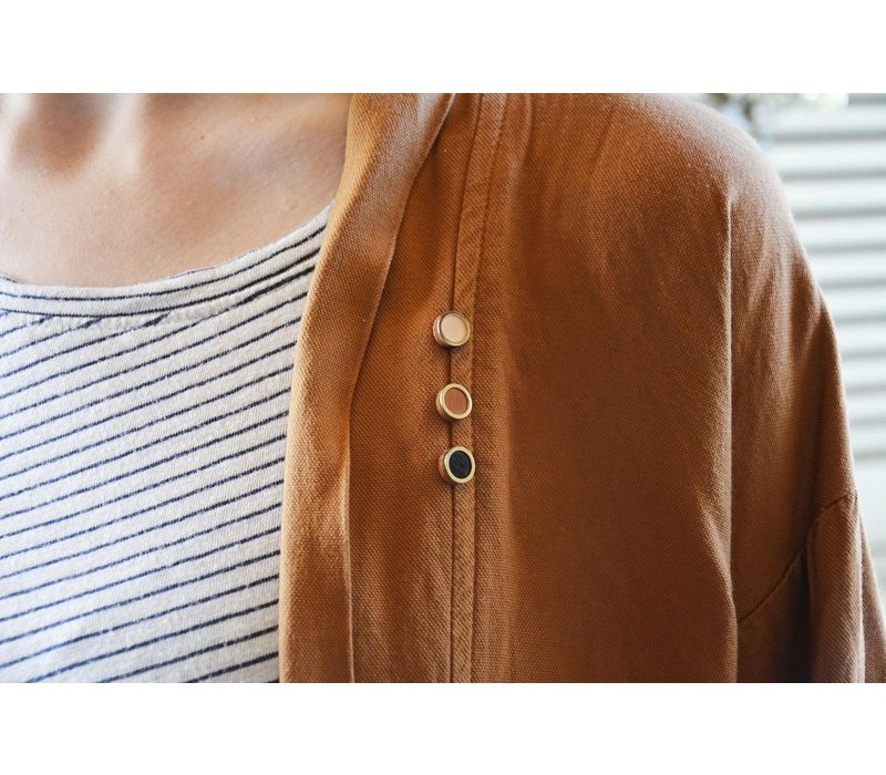 Pithy - Mini Pin Badge Set - Pink, Orange, Black