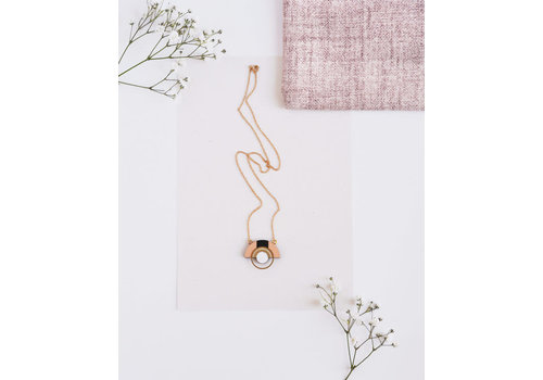 Pithy Pithy - Collection N.11 - Necklace Salmon/ White
