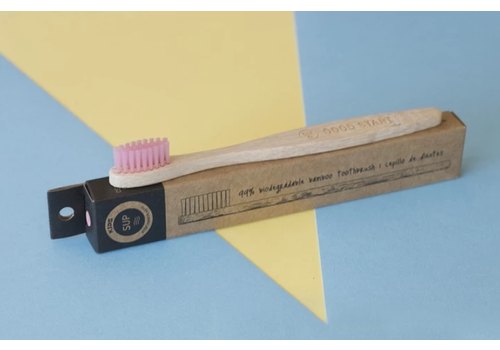 SUP - Stop Using Plastic SUP - Bamboo Toothbrush - Kids Pink