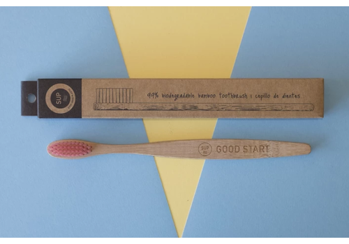 SUP - Stop Using Plastic SUP - Bamboo Toothbrush - Medium Pink