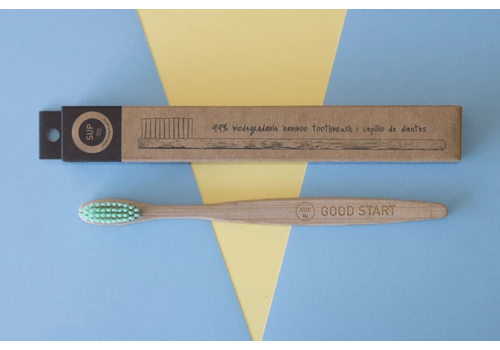 SUP - Stop Using Plastic SUP - Bamboo Toothbrush - Medium Turquoise
