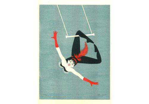 El Marquès El Marquès - Acrobats Trapeze - A3 Risograph