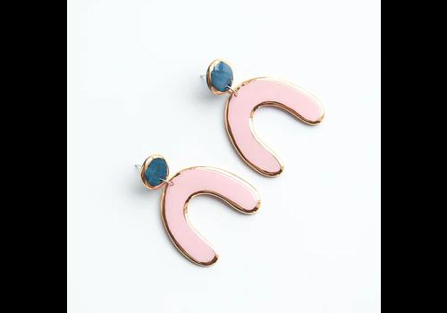 Rozenthal Rozenthál - Pink Statemant - Earrings