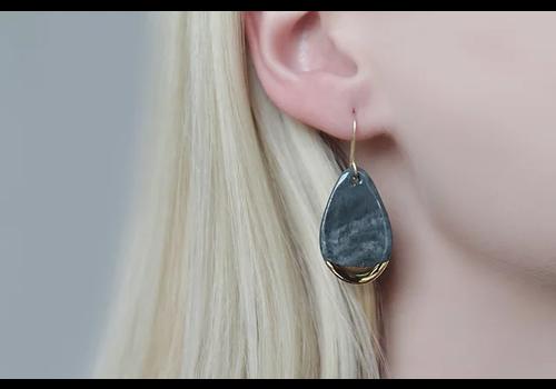 Rozenthal Rozenthál - Stone Grey Drop - Earrings