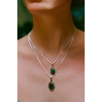 Naida C. Castel - Phases pendant Jade - Necklace