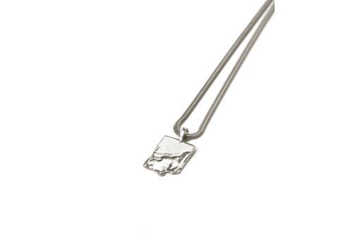 Naida C. castel Naida C. Castel - Low tide Silver - Necklace