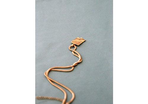 Naida C. castel Naida C. Castel - Low Tide - Gold Necklace