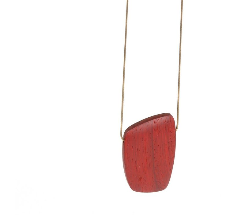 Matimaña  - Necklace - Walnut & Coral