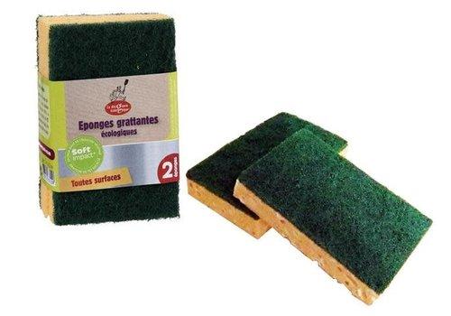 Ecod - Green Kitchen sponge scourer- 2ud