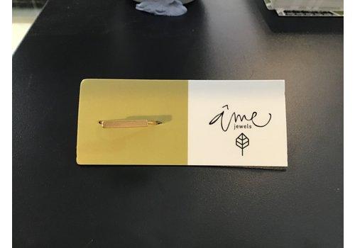 Âme Âme Jewels - Bar - Gold Ring -  7.5
