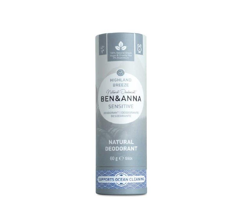 Ben & Anna - Sensitive Deodorant - Highland Breeze - 60g