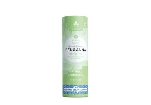 Ben&Anna Ben & Anna - Deodorant - Sensitive  Lemon & Lime - 60g
