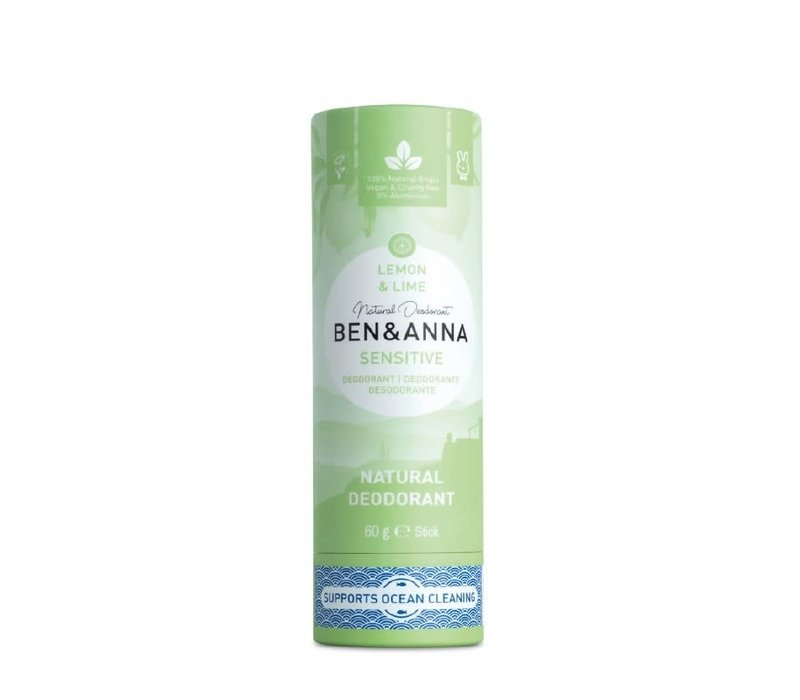 Ben & Anna - Deodorant - Sensitive  Lemon & Lime - 60g