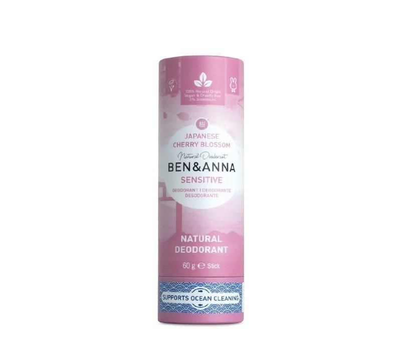Ben & Anna - Deodorant - Sensitive Flor de Cerezo Japonés - 60g