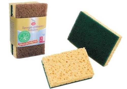 Ecod - Kitchen Sponges Scourers Brown/Green - 2 units