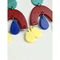 Pentamina - Arco Falling Drops - Colores Primarios -  Earrings