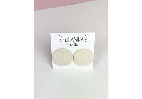 Pentamina Pentamina Studio - Dot Ivory Earrings - White