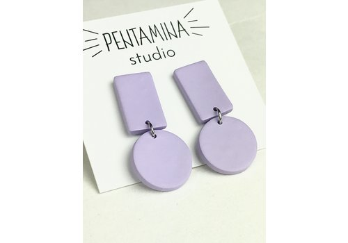 Pentamina Pentamina - Geo I Earrings - Lilac