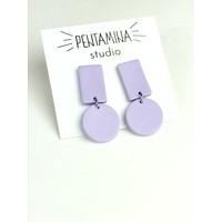 Pentamina - Geo I Earrings - Lilac