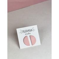 Pentamina - Semicircle Earrings - Dusty Rose