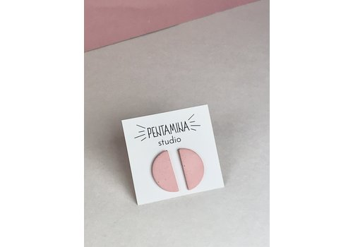 Pentamina Pentamina - Semicircle Earrings - Dusty Rose